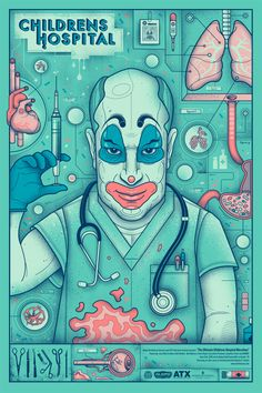 """Childrens Hospital Poster"" by Graham Erwin"