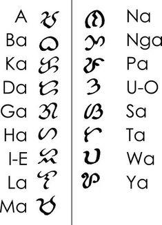 Ancient Filipino writing