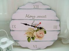 Home sweet home clock – ceas shabby chic