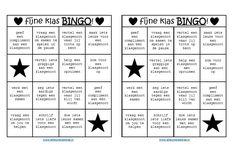 """Op deze pagina staanmaterialen die ik zelf heb ontworpen. De materialen zijn te downloaden als pdf-bestand. Fijne klas BINGO! Speel met de klas de """"fijne klas BINGO!"""" Elk kind krijgt een bingokaart op zijn/haar tafel. Het doel van het spel is om de kaart vol te spelen. Op de bingokaart staan opdrachten die de groepssfeer …"""
