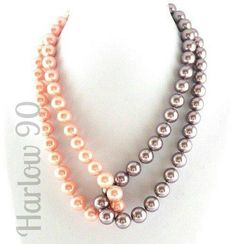 Collar #H90 de perlas.