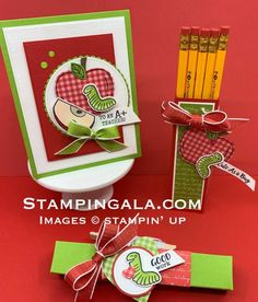 Harvest Hellos & Wiggle Worm stamp sets, teacher gifts & back to school treats Up Teacher, Teacher Cards, Teacher Appreciation Gifts, Teacher Gifts, Teacher Presents, Professor, School Treats, Treat Holder, Fall Cards