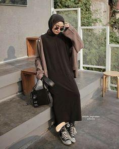 Modern Hijab Fashion, Street Hijab Fashion, Hijab Fashion Inspiration, Muslim Fashion, Fashion Outfits, Hijab Style, Casual Hijab Outfit, Niqab, Funny Dad