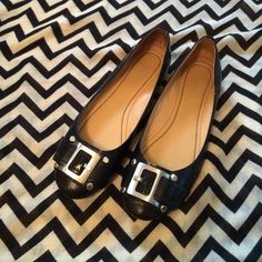 Nine West Flats Black leather  flats with silver buckle. Goes with everything. Size 7. Great condition. No box. Nine West Shoes Flats & Loafers