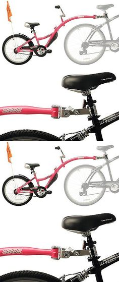 Trailers 85040: Tandem Bike Attachment For Kids Children Training Bicycle Bikes Trailer Pink -> BUY IT NOW ONLY: $99.89 on eBay!