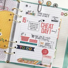 Quarterly blog feature for Scrapbook & Cards Today magazine - April set up in my Carpe Diem planner