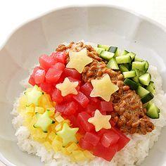 納豆まぐろの天の川ちらし寿司 Milky Way rice bowl