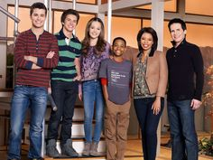 Cast of lab rats: (left to right) Adam Chase Bree Leo Tasha and Mr. Davenport