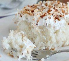 Coconut creme poke cake