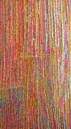 Alison Lionel - Punu tjukurpa - 120 x 68 cm http://www.aboriginalsignature.com/art-aborigene-ernabella/alison-lionel-punu-tjukurpa-120-x-68-cm