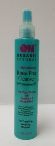 On Organic Natural Water Free Cleanser for Wigs and Weaves - Synthetic & Natural Hair 8 oz. - http://naturalhaircaretoday.com/natural-hair-care-today/natural-hair/on-organic-natural-water-free-cleanser-for-wigs-and-weaves-synthetic-natural-hair-8-oz/