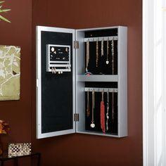 Gwinnett Jewelry Case/Mirror Made By Modern Living. Wall Mounted Jewelry  Armoire, Wall