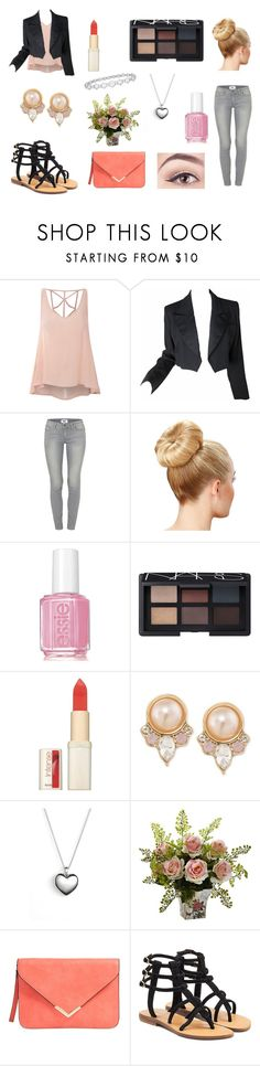 Cute work outfit by rojoubdalia on Polyvore featuring Glamorous, Yves Saint Laurent, Paige Denim, Mystique, Pandora, Carolee, NARS Cosmetics, L'Oréal Paris, Essie and Epoque