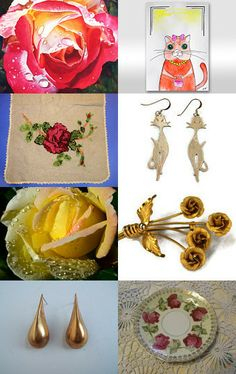 Raindrops on Roses and Whiskers on Kittens by Jenny LK Doughty on Etsy--Pinned with TreasuryPin.com #raindrops #roses #kittens #cats #giftguide #forMom
