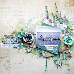 Nautical Memories- Flying Unicorn Ustream layout - Prima - Seashore Collection