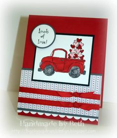 """Love this Layout. stampin up """"Loads of Love"""" stamp set"""