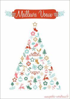 New Year's Card - free printable Jolies cartes pour les fêtes ! par petits-canaillous.fr