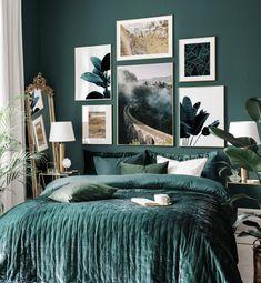 Green Rooms, Bedroom Green, Room Ideas Bedroom, Bedroom Colors, Home Bedroom, Diy Bedroom Decor, Home Decor, Bedrooms, Jungle Bedroom