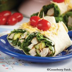 Grilled Chicken & Zucchini Wraps from 101 Soups, Salads & Sandwiches Cookbook
