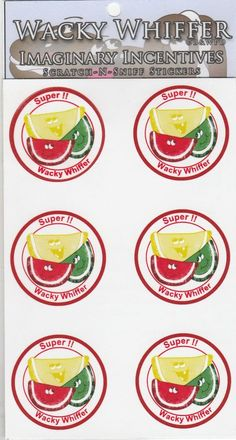 Wacky Whiffer Scratch and Sniff Stickers Candy Fruit Slice Scented! ITM#SII033E3 #WackyWhiffer #ScratchSniff
