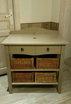 meuble salle de bain taupe style campagne chic meubles et rangements par lestresorsdisa68 - Table De Nuit Rustique