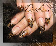Nail Art Gallery - tiger