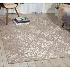Charlton Home Portleven Taupe/Ivory Area Rug Rug Size: 8' x 10'