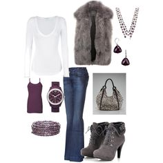 Have an obsession with fur vests this season!!