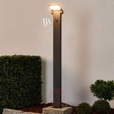Flott gatelampe Marius med sensor, 100 cm-Gatebelysning LED-9619081-22