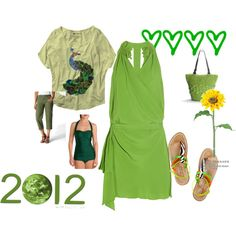 Green Goes With Everything, created by easystyle on Polyvore