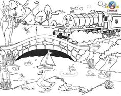 Printable Train Thomas Henry The Tank Engine And Water Wildlife Birds Coloring Pages For Boys