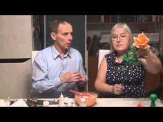 Розы из муки Часть 4 - YouTube