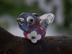 Beulah lampwork bird beadsra double helix by DeniseAnnette on Etsy, $10.00