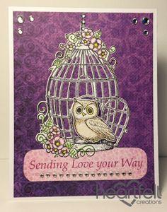Heartfelt Creations | Owl Birdcage Love