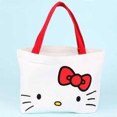 MZ127 Hello Kitty Cute Kawaii Canvas Mini Shopper KID Tote Bag Japanese Magazine Gift Free shipping wholesale dropshipping M13-in Shopping Bags from Luggage & Bags on Aliexpress.com
