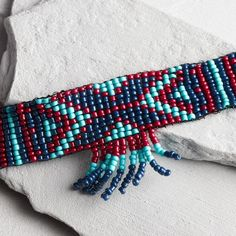 Blue Seed Bead Choker Necklace | COST PLUS WORLD MARKET saved by #ShoppingIS