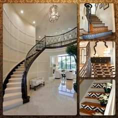 Wood is an eco-friendly material for the entryway stairs. Some of the best wood selections include white oak plan floors that provide a striking contrast below the stairway. Another option is to paint the stairs. Paint is an affordable and very attractive way of sprucing up the look of the stairs. Consider refreshing with monochrome.  - entryway staircase decor, home decor ideas,