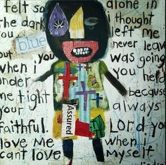 """""""Broken but not destroyed"""" mixed media... Misty LIndsey..this is amazing beyond words!!!! LOVE IT!! Suzan Buckner."""