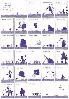 Twenty-six Terrors by tom gauld, via Flickr