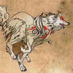 Early concept art of Amaterasu.