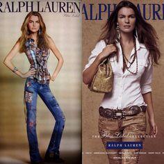 La modelo Filippa Hamilton para Ralph Lauren un poquito más delgada de lo normal, ejem. La marca tuvo que pedir disculpas a la modelo (y al público).