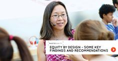 Equity by design - some key findings and recommendations