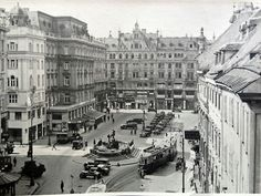 Neuer Markt 1930s Ambassador Hotel, Contemporary History, Vienna Austria, Photographs, Street View, Black And White, Vintage, Vienna, Historical Photos