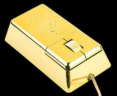 USB Gold Bar Computer Mouse $15