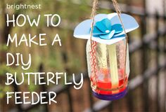This homemade butterfly feeder makes an adorable gift. I'm going to make one for Tom for Christmas, shhh, don't tell him:)