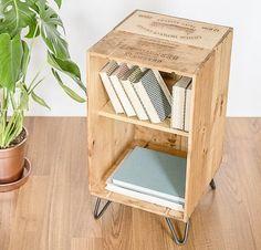 La caisse à vin : table de chevet DIY