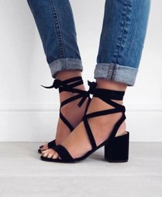 lace up suede heels #kennethcole