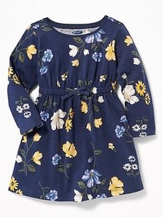 Old Navy Babies' Waist-Defined Floral Dress Navy Floral Regular Size M Kids Dress Wear, Dresses Kids Girl, Kids Outfits, Cute Outfits, Baby Girl Dress Patterns, Baby Dress, Baby Girl Fashion, Kids Fashion, Frock Design