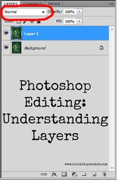 Photoshop Editing: Understanding Layers by Kim Young via Click it Up a Notch.because I've forgotten how to use photoshop