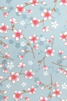 PiP Cherry Blossom Light Blue wallpaper | Traditional 2 | Wallpaper | PiP Studio